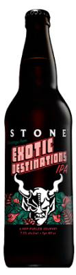 Stone Exotic Destinations IPA bottle