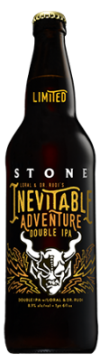 Stone Loral & Dr. Rudi's Inevitable Adventure Double IPA bottle