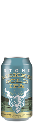 Stone Moxee Gold IPA can
