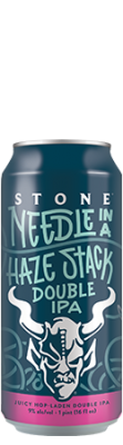 Stone Needle in a Haze Stack Double IPA can