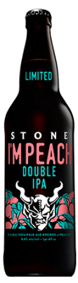 Stone I'm Peach Double IPA bottle