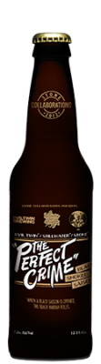 "Evil Twin / Stillwater / Stone ""The Perfect Crime"" Black Smoked Saison bottle"