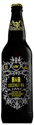Robert Masterson & Ryan Reschan / Rip Current / Stone R&R Coconut IPA bottle