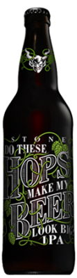 Stone Do These Hops Make My Beer Look Big? IPA bottle