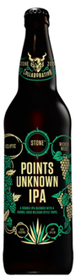 Ecliptic / Wicked Weed / Stone Points Unknown IPA bottle