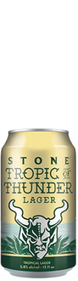 Stone Tropic of Thunder Lager can