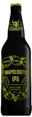 Beachwood / Heretic / Stone Unapologetic IPA bottle