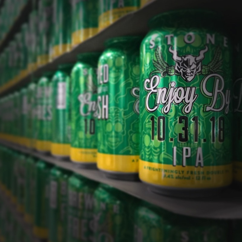 Stone Enjoy By 10.31.18 IPA cans