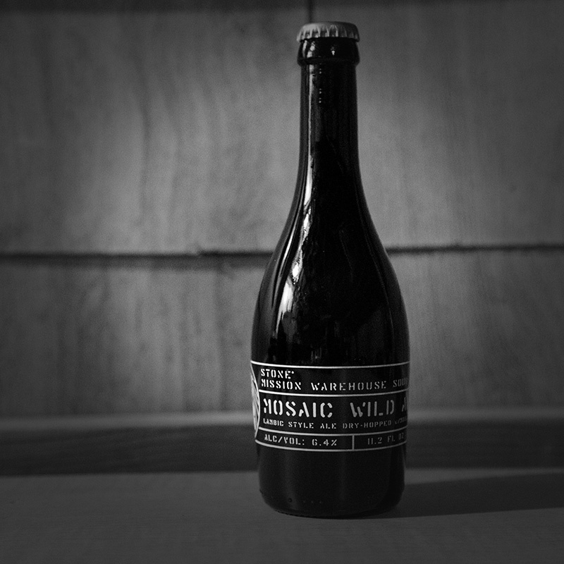 Stone Mission Warehouse Sour - Mosaic Wild Ale bottle