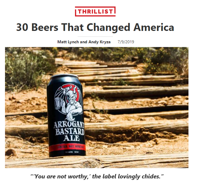 Top 30 beers US