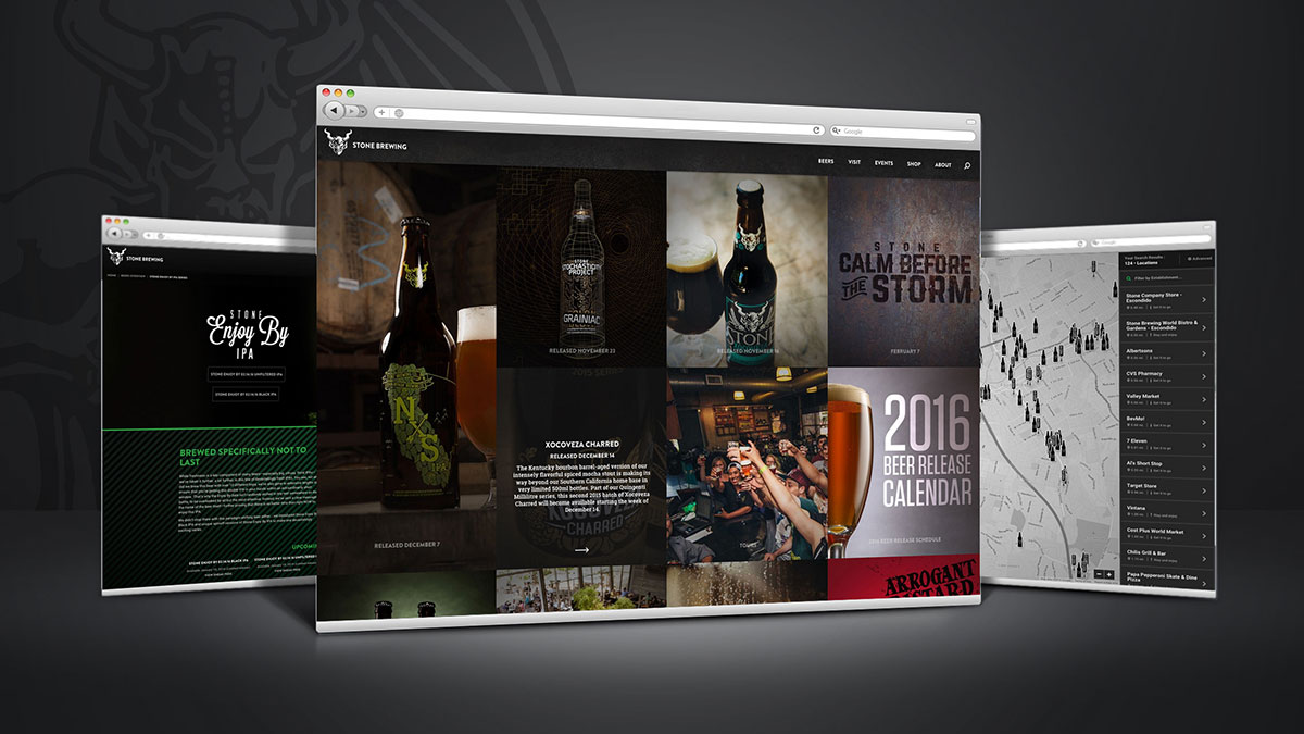 2015 Stone Brewing Website Redesign